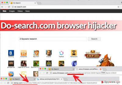 Screenshot of Do-search.com virus