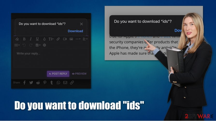"Do you want to download ""ids"" popup"