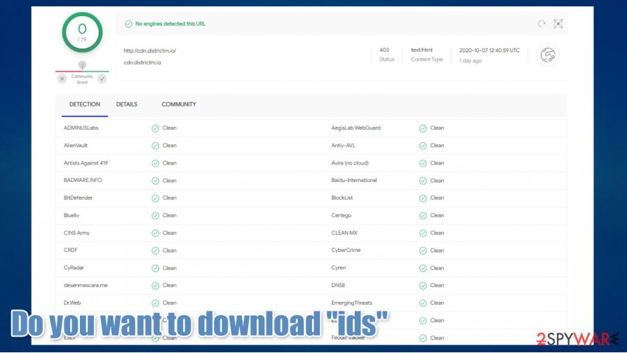 "Do you want to download ""ids"" prompt"