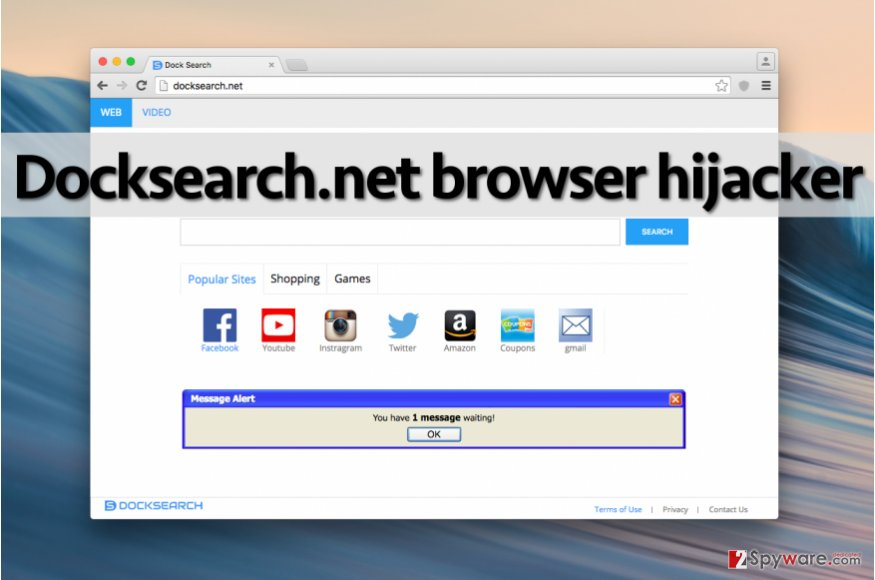 Docksearch.net hijacker in Chrome