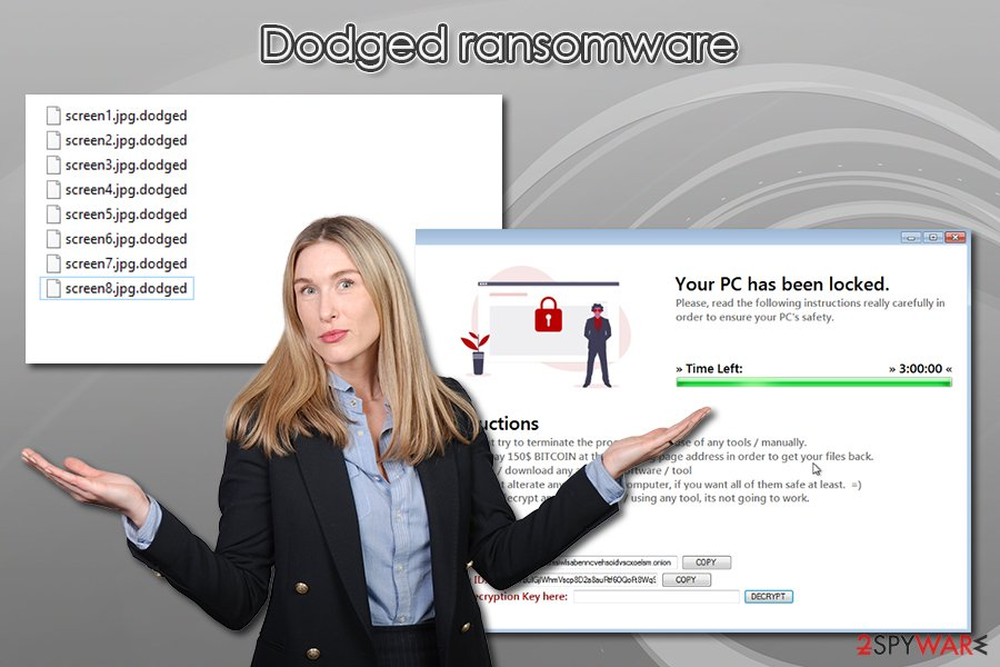 Dodged ransomware virus