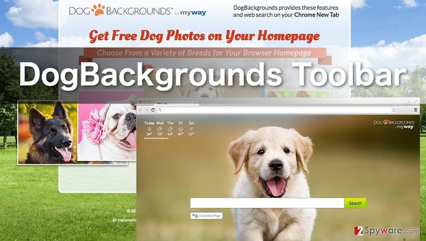 Image of dogbackrounds toolbar