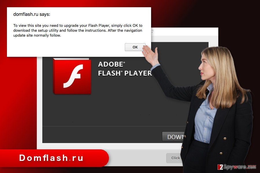 The illustration of Domflash.ru virus