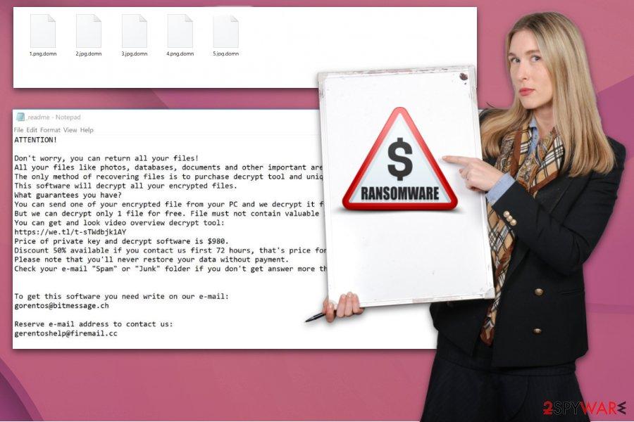 Domn ransomware virus