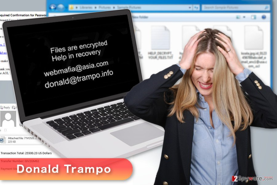 The image of Donald Trampo ransomware virus