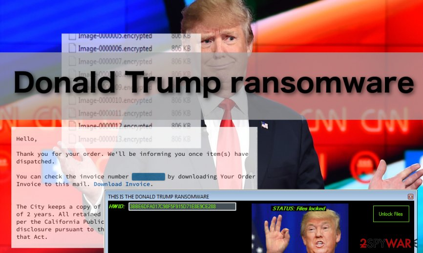 The picture of Donald Trump ransomware virus