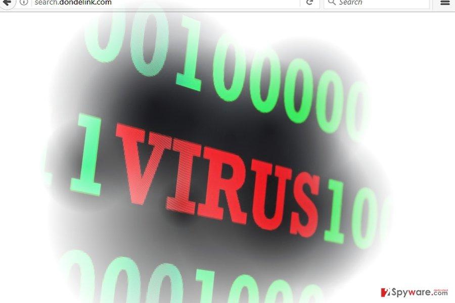 Search.dondelink.com virus sample