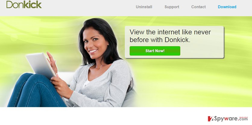 Donkick ads snapshot
