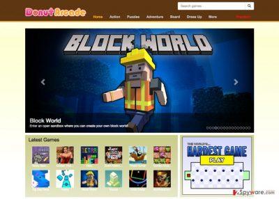 An image of DonutArcade download website