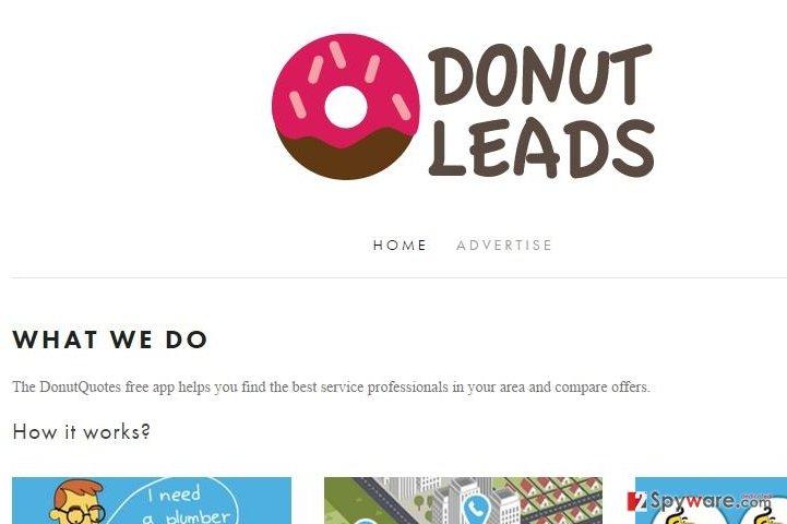DonutLeads adware snapshot