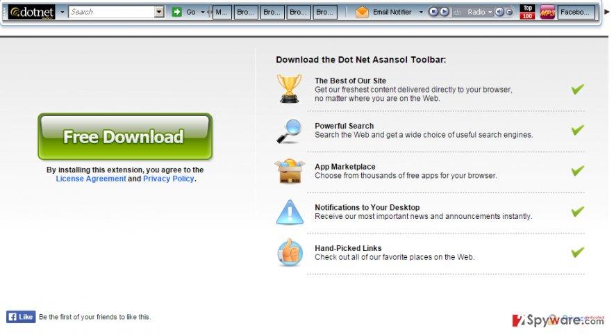 Dot Net Asansol Commuity Toolbar snapshot
