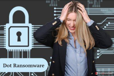 The image of Dot ransomware virus