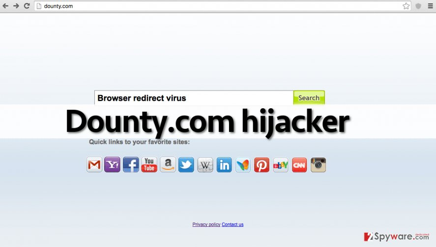 Dounty.com virus alters homepage settings