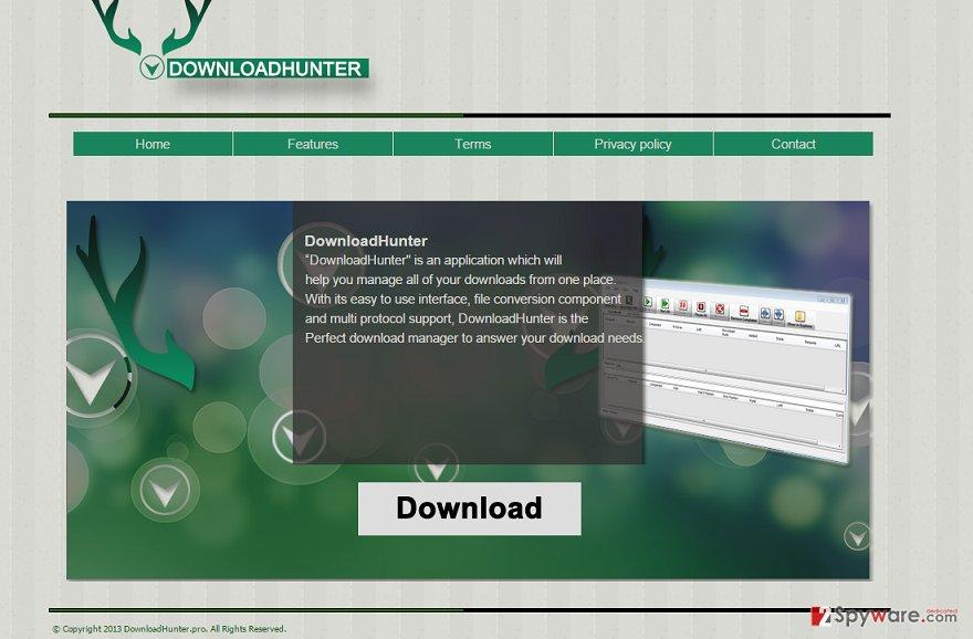 DownloadHunter virus