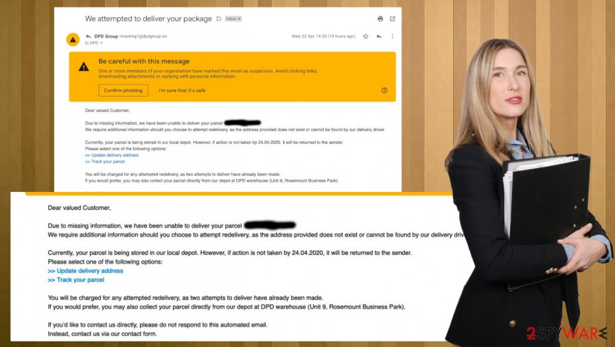DPD Delivery Email Virus scam