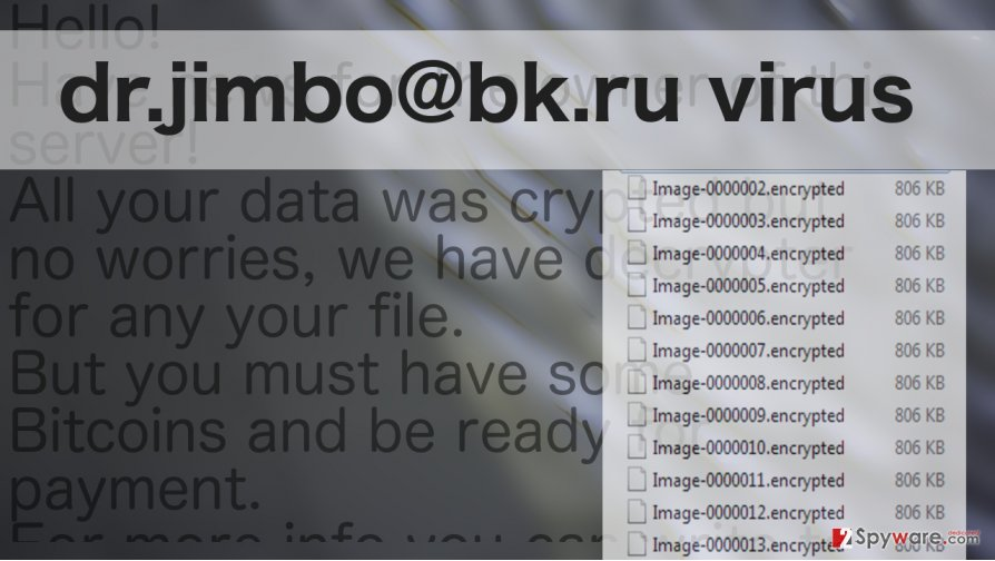 An illustration of dr.jimbo@bk.ru ransomware virus