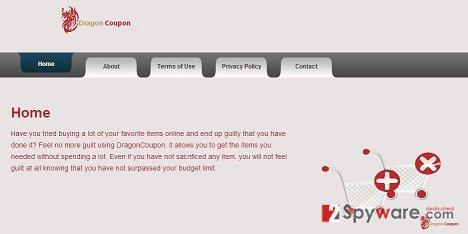 DragonCoupon virus snapshot
