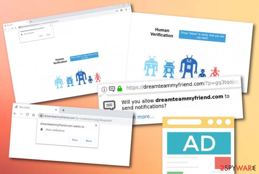 Dreamteammyfriend.com adware
