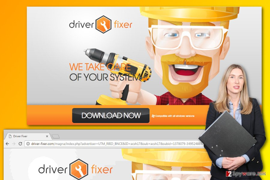 Driver-fixer.com ads