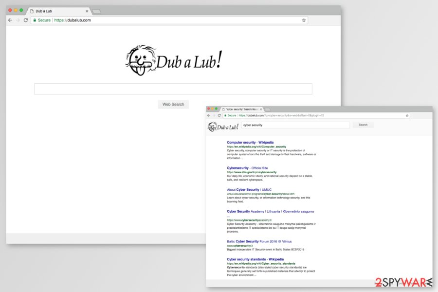 Image of Dubalub.com search engine