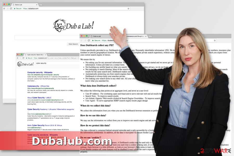 Example of Dubalub.com virus