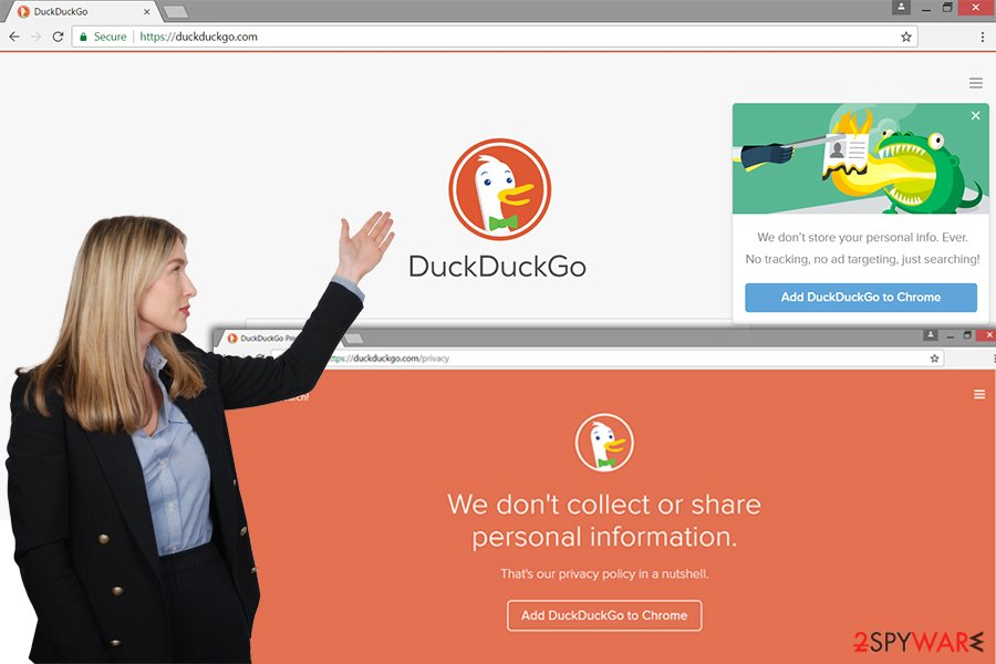 DuckDuckGo adware website