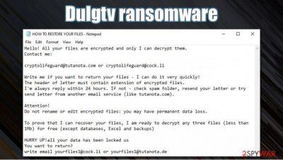 Dulgtv ransomware