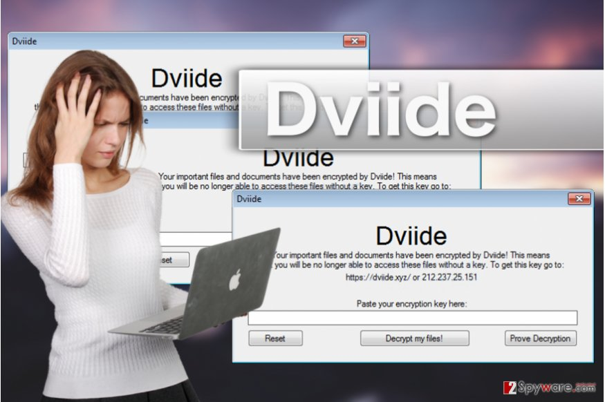 Dviide ransomware virus illustration