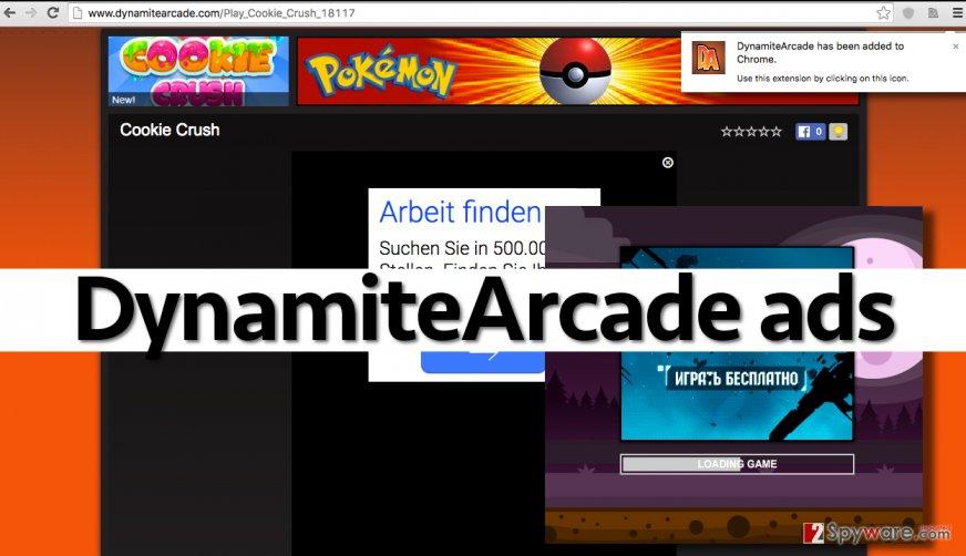 DynamiteArcade adware is an untrustworthy program