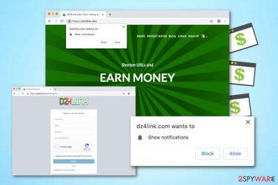 Dz4link.com adware
