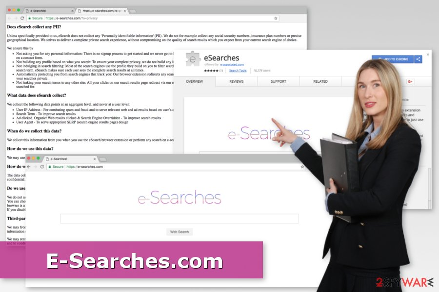 Image of E-Searches.com virus