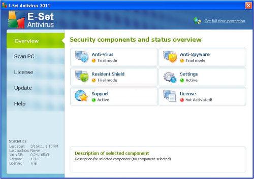 E-Set Antivirus 2011