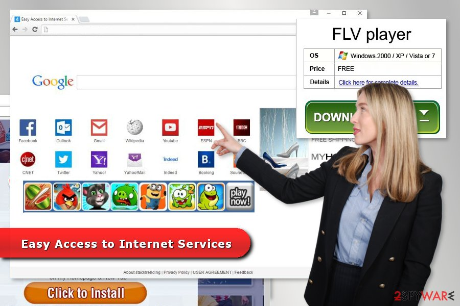 The image of Easy Access to Internet Services virus