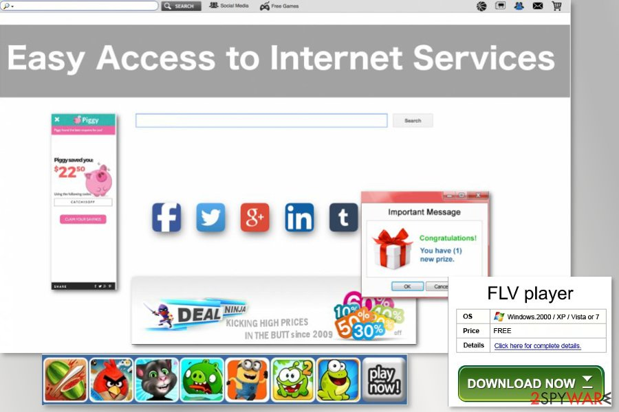 The example of Easy Access to Internet Services