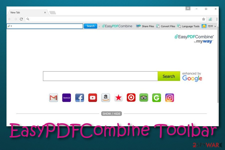 EasyPDFCombine Toolbar virus