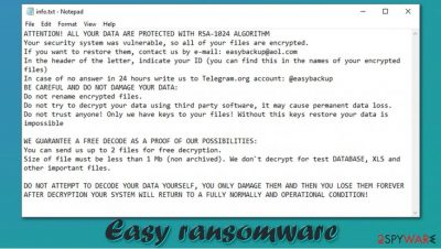 Easy ransomware