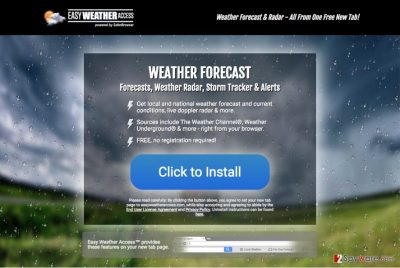 An image of Easy Weather Access download website