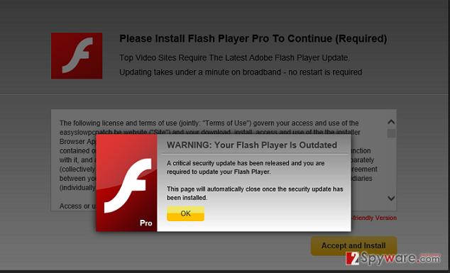 EasyFlashUpgrade.net virus snapshot