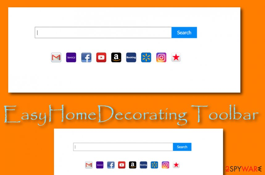 EasyHomeDecorating Toolbar browser hijacker