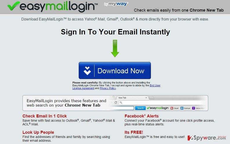 EasyMailLogin software website