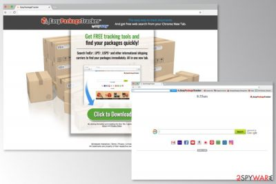 The picture of EasyPackageTracker Toolbar