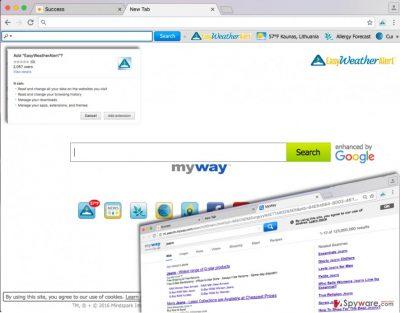 Image showing EasyWeatherAlert search