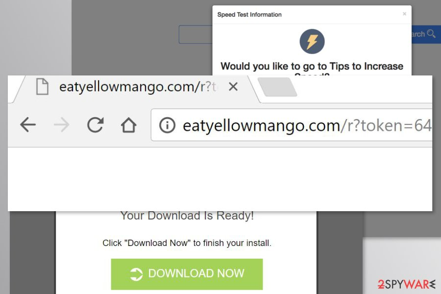 Examples of Eatyellowmango.com redirects