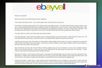 Ransom note from eBayWall ransomware