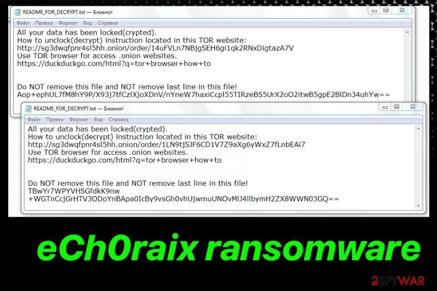 Remove eCh0raix ransomware (Decryption Steps Included) - Free