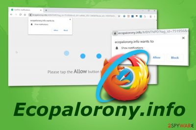 Ecopalorony.info pop-up ads