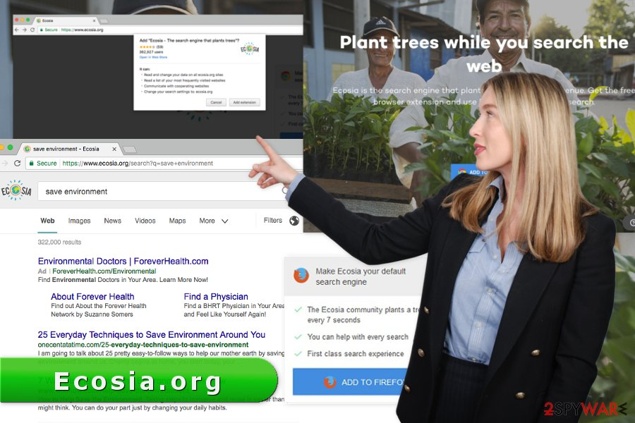 The picture of Ecosia.org virus