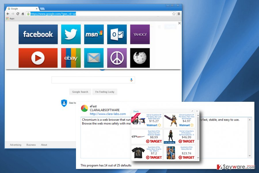 The picture of eFast Browser