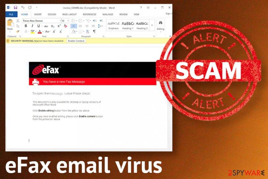 eFax email virus