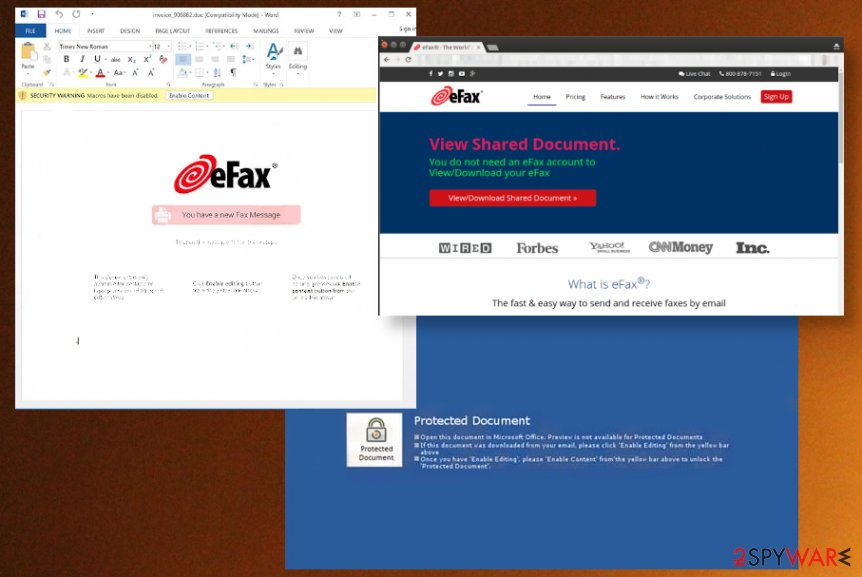 eFax email phishing campaign